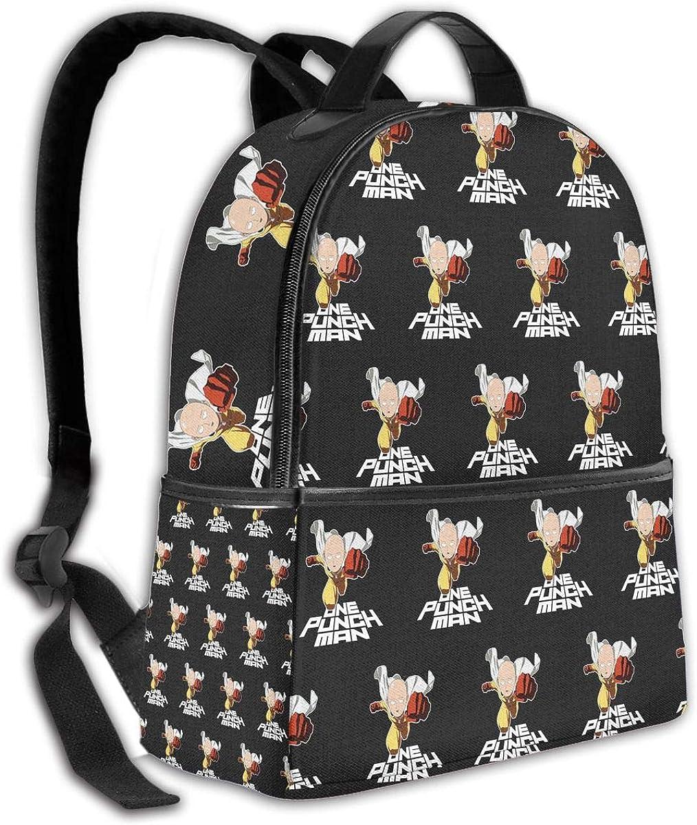 NanZYang School Backpack One Punch Man Ok Saitama Unisex Daypacks Laptop Bags Outdoor Travel Large Computer Bag Black