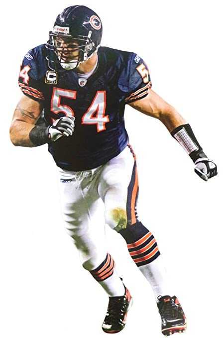 44650f79 FATHEAD Brian Urlacher Mini Chicago Bears Official NFL Vinyl Wall Graphic  7