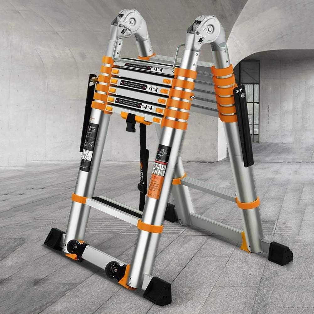 MC-BLL-ladder Escalera telescópica Espiga de aleación de Aluminio Gruesa Escalera Plegable Escalera multifunción de ingeniería de elevación de viviendas: Amazon.es: Hogar