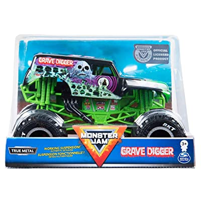 Monster Jam 2020 Grave Digger Official 1:24 Scale Diecast Monster Truck by Spin Master: Toys & Games