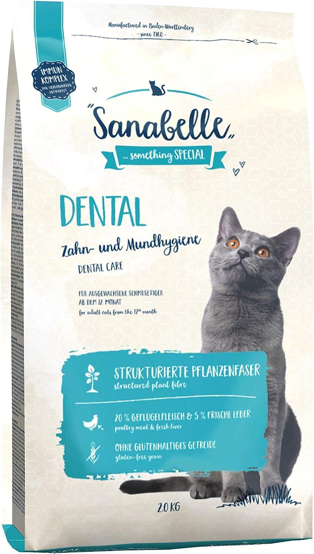 Sanabelle Dental | Comida Seca para Gatos Adultos De Todas Las Razas | para El Cuidado De Los Dientes Y La Higiene Oral 2500 g