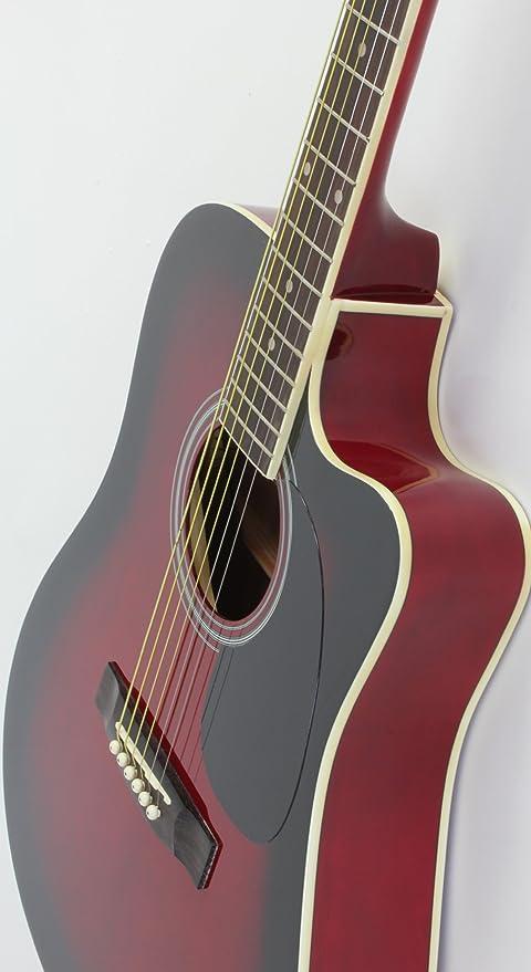 Jameson Guitars - Guitarra eléctrica acústica Thinline de tamaño completo con funda y púas: Amazon.es: Instrumentos musicales