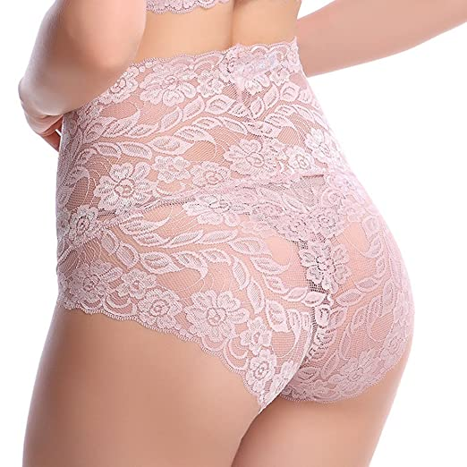 7069b52c2c1 Manstore® Women s 100% Lace Sexy High-Waisted Soothing Underwear Panty at Amazon  Women s Clothing store