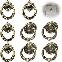 Antieke lade Ring Handgrepen Antieke meubelknop Knoppen met bronzen handvat Antieke kast handvat knop Retro kastknoppen…
