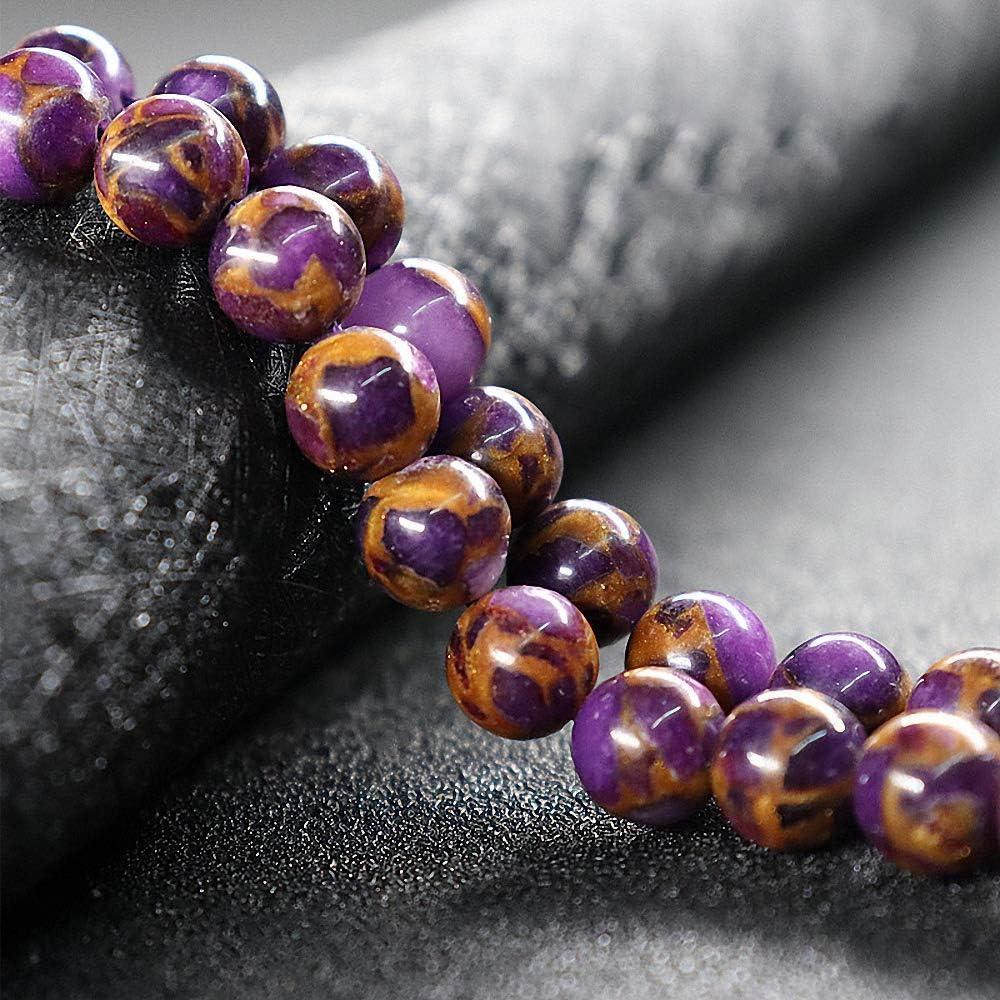 Cuentas de piedra natural, cuentas redondas sueltas de piedras preciosas para pulsera, collar, pendientes, fabricación de joyas, diseño de manualidades DIY(1strand 12mm 30pcs)