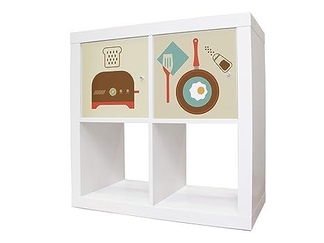 Ikea Credenza Porta Tv : Sticker adesivi per mobili ikea expedit kallax credenza con