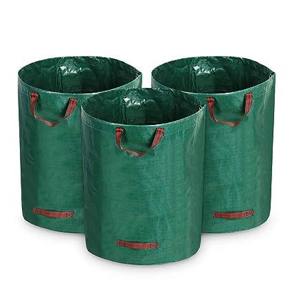 Amazon.com: Growneer - Bolsas de basura para jardín, 3 ...