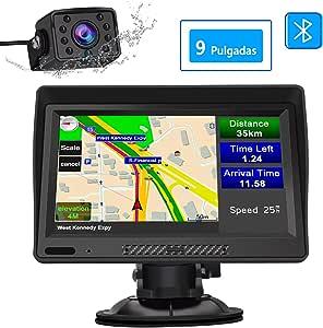 AWESAFE Navegador GPS para Camiones y Coches con Bluetooth y Cámara Trasera de 9 Pulgadas Pantalla LCD Multimedia, con Actualizaciones de Mapas de Europa para Toda la Vida: Amazon.es: Electrónica