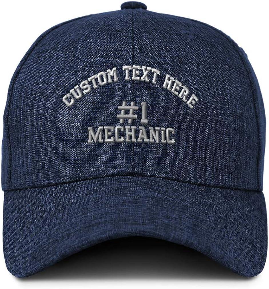 Custom Baseball Cap Number #1 Mechanic Embroidery Casual Hats for Men /& Women