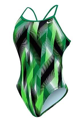166e93a60e Amazon.com  Nike Women s Beam Modern Cut-Out Tank Swimsuit  Clothing