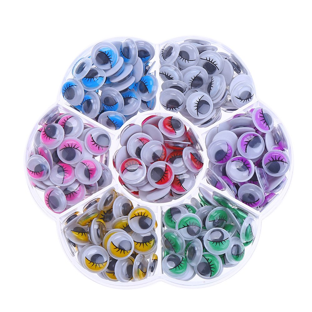 DECORA 240pcs 10mm Colors Wiggly Googly Eyes With Eyelash With Self-adhesive DIY Scrapbooking Crafts 4336856453