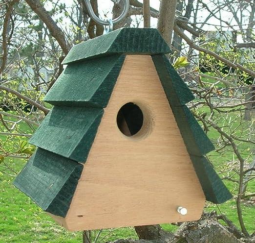 Jardín Decoración Exterior Comedero vogelhaeuschen pájaro Station Comedero Comedero Wren Casa a Frame Casa de pájaros de pájaros Silo regalo para pájaro Amigos pájaro: Amazon.es: Jardín