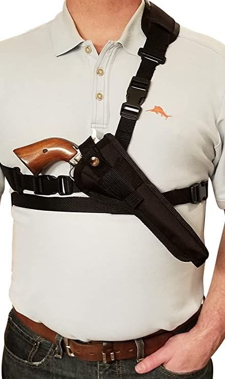 "Shoulder Holster with Ammo Pouch for TAURUS HUNTER /& TRACKER Models 4/"" Barrel"