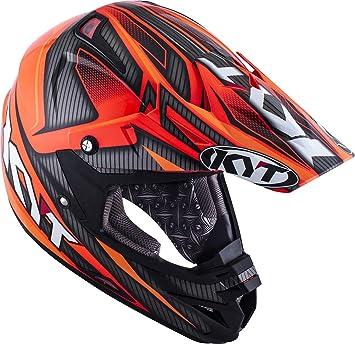 KYT ysco0003.3 Casco Moto, Negro/Rojo, ...