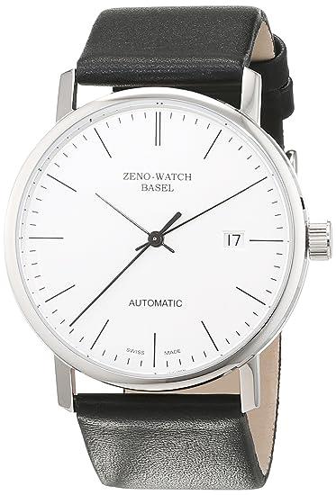 Zeno Watch Basel 3644-i3 - Reloj analógico automático para hombre con correa de piel, color negro: Amazon.es: Relojes