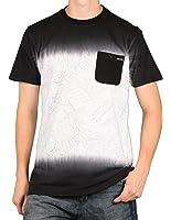 MO7 Men's Dip-Dye Foilage Print Pocket T-Shirt