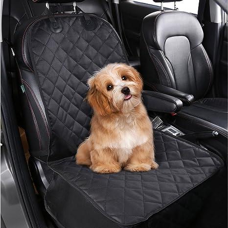 100/% Waterproof Car Pet Dog Front Seat Cover Anti-slip Machine Washable Black