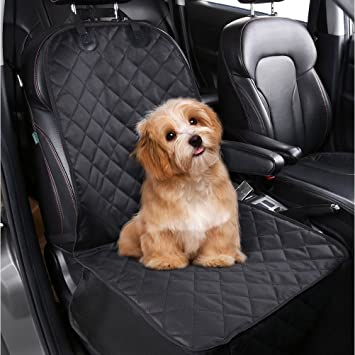 PEDY Pet Front Seat Cover For Cars Dog Car Nonslip Rubber Backing