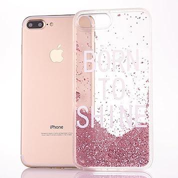 MoEvn Funda iPhone 6S Plus, Bling Arena Movediza Lentejuelas Carcasa iPhone 6 Plus Sparkle Transparente Protección Caso Suave Silicona Cubierta ...