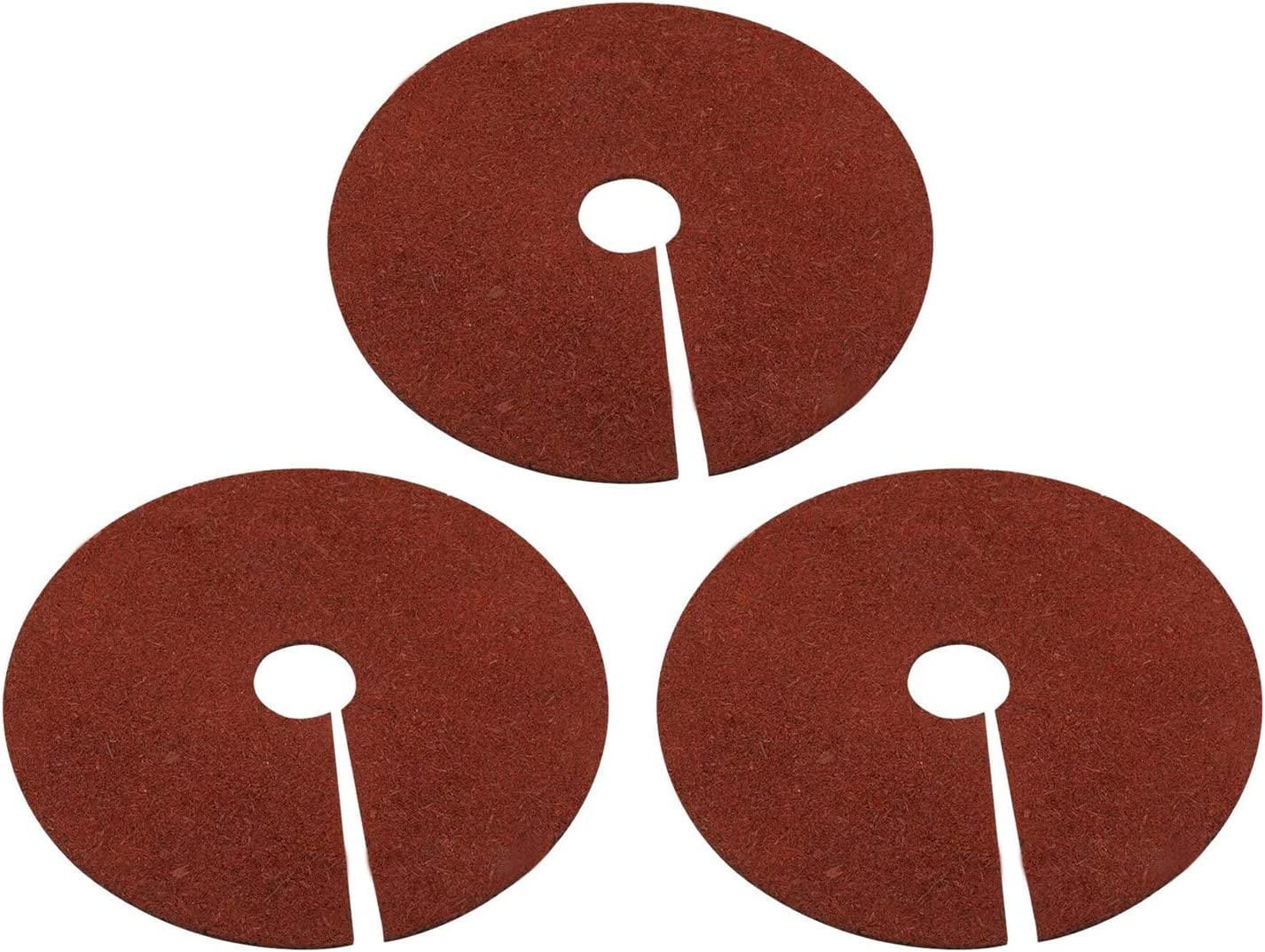 Fasmov Rubber Mulch Ring Tree Protector Mat Tree Protection Weed Mats, 24 inch, 3-Pack