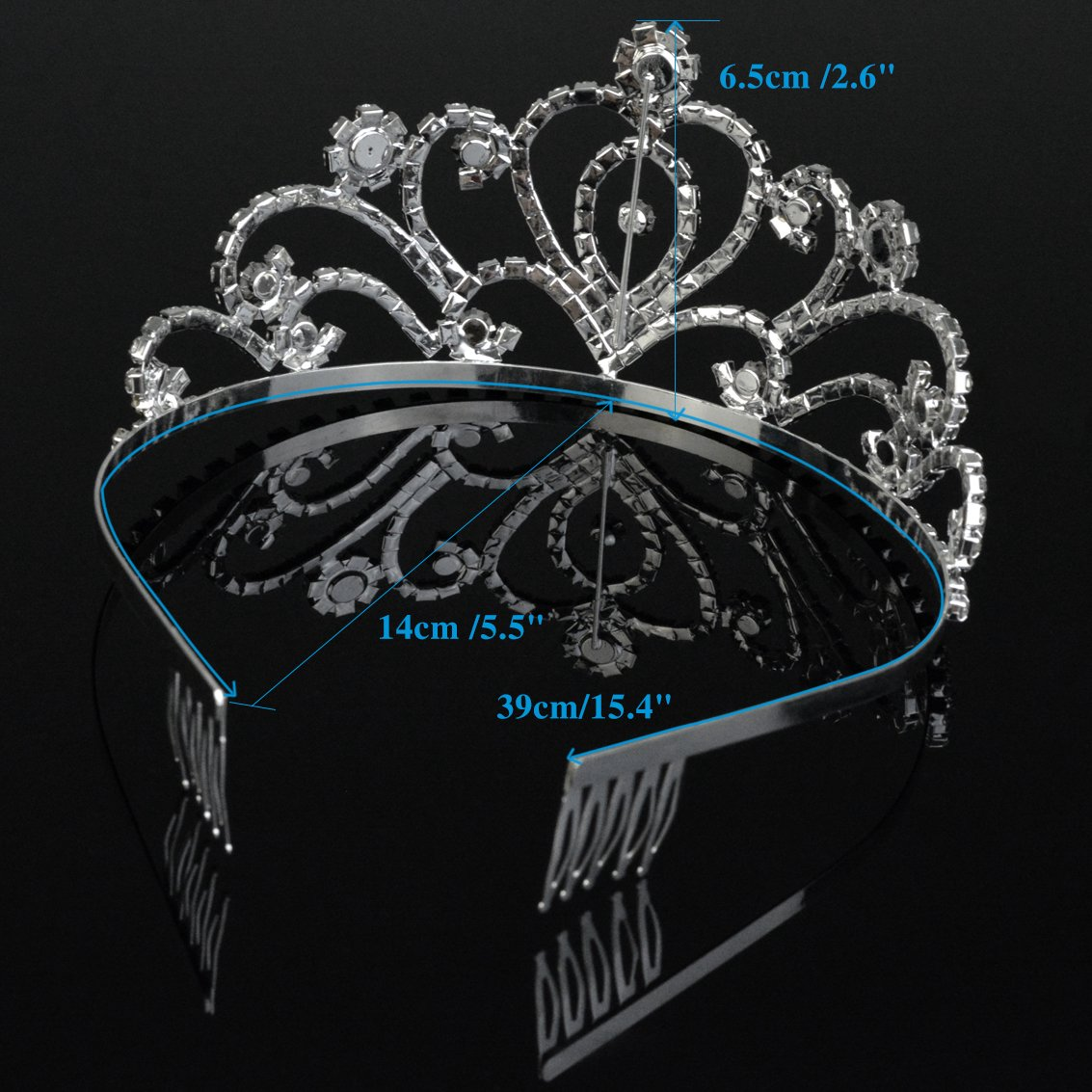 SUMERSHA Wedding Tiara with Comb Bridal Shining Rhinestones Crystal Headband Pageant Princess Bridal Prom Decoration Party Wear