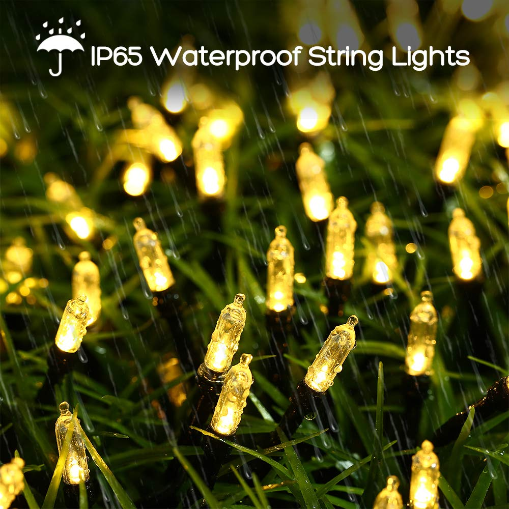 ... LED String Lights Waterproof with 8 Modes & Automatic Timer for Home, Patio, Lawn, Garden, Party and Holiday Decoration (Warm White) : Garden & Outdoor