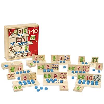 Goula - Juego 1-10, asociación de números (Diset 55131): Juguetes y juegos
