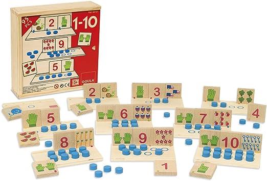 Goula - Juego 1-10, asociación de números (Diset 55131) , color/modelo surtido: Amazon.es: Juguetes y juegos