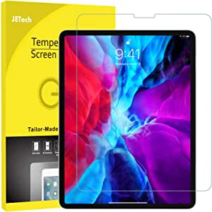 JETech Screen Protector for Apple iPad Pro 12.9-Inch (2020 and 2018 Model, Edge to Edge Liquid Retina Display), Face ID Compatible, Tempered Glass Film