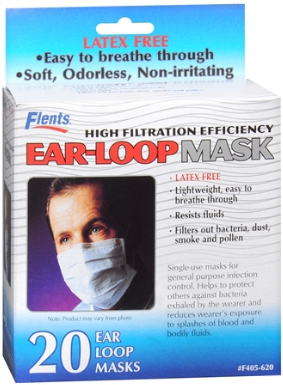 Flents Ear-Loop Masks 20 Each (Pack of 6) by Flents