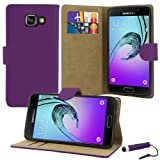 Samsung Galaxy A3 2016 Case, Premium Quality Leather Wallet Case Cover Comes with Galaxy A3 2016 Screen Protector & Stylus Pen / Galaxy A3 2016 Case