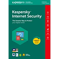 Kaspersky Internet Security 2019 | 5 Devices | 1 Year | PC/Mac/Android | Online Code