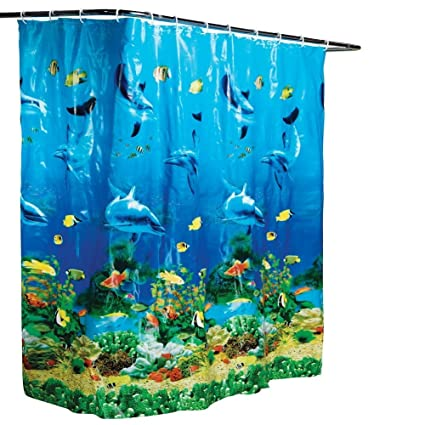Amazon Collections Etc Dolphin Bay Under The Sea Shower Curtain