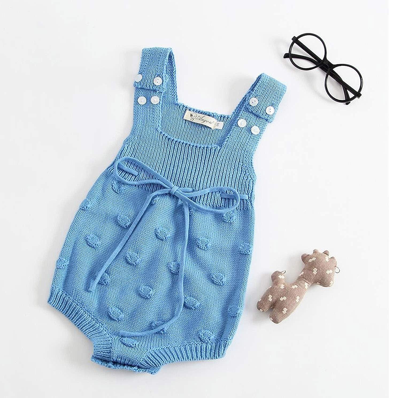 ad11811c4 Amazon.com  Pinleck Newborn Baby Girls Boys Knit Sweater Romper ...