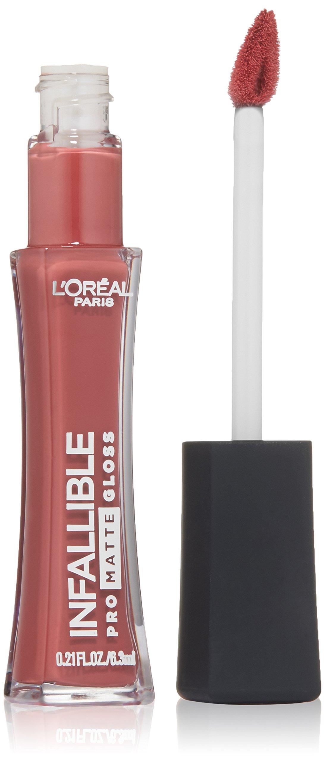 L'Oréal Paris Infallible Lip Pro Matte Gloss, Nude Allude, 0.21 fl. oz.