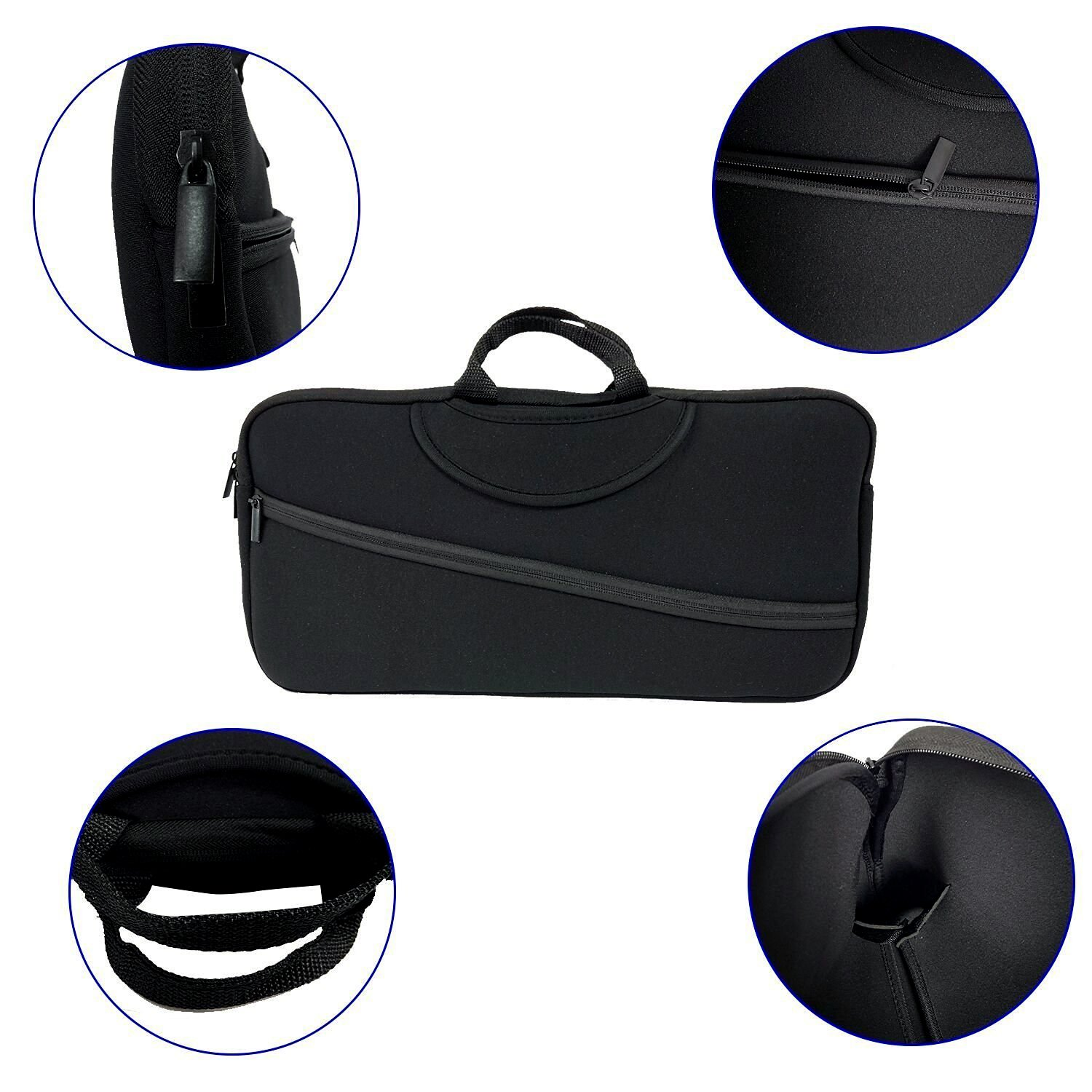 Wanty Black Color Soft Neoprene Sleeve Carrying Travel Case for ...