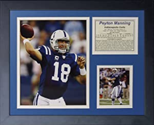 "Legends Never Die ""Peyton Manning Indianapolis Colts Home Framed Photo Collage, 11 x 14-Inch"