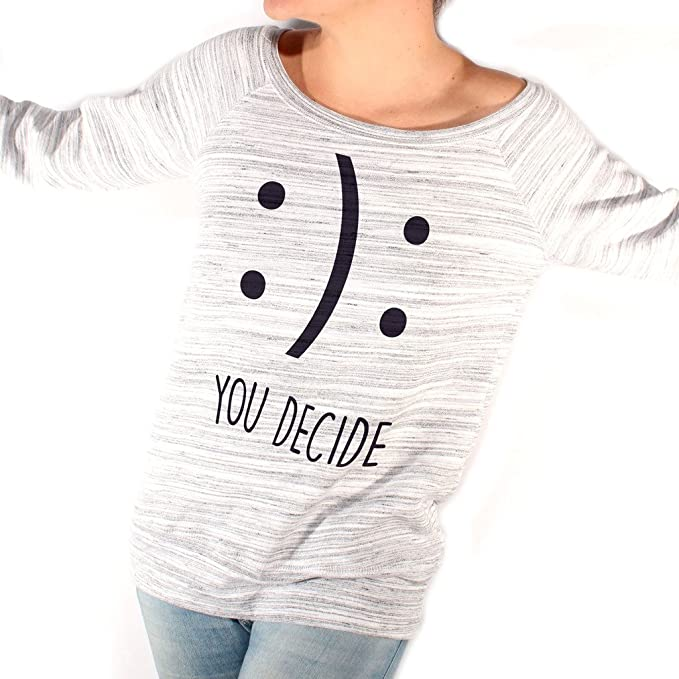 Felpa Fashion FELICE-TRISTE TU DECIDI - MUSH by Mush Dress Your Style -  Donna