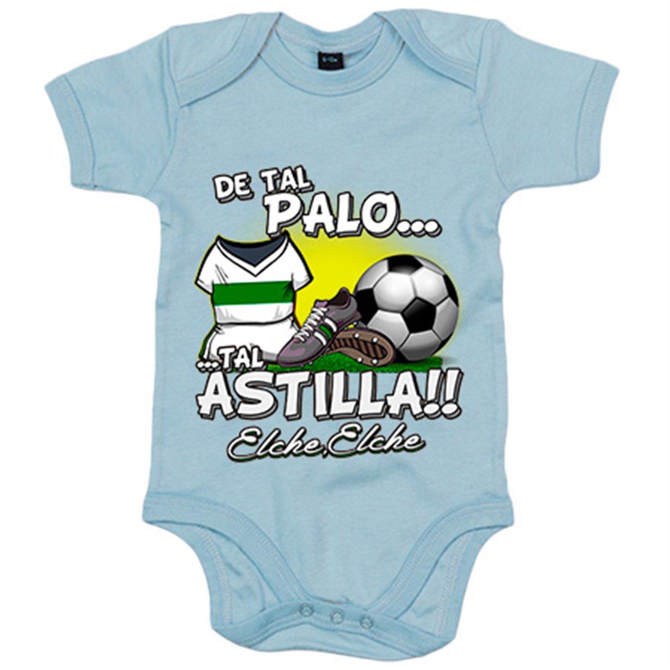 Body bebé de tal palo tal astilla Elche fútbol - Blanco, 6 ...