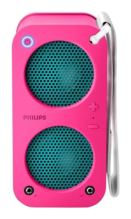 Amazon.com: Philips SB5200P/37 Bluetooth Wireless Portable Speaker ...