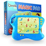 Boxiki kids Toddler Tablet and Learning Pad with 10 Educational Cards | Kids Smart Pad and Board Game w/ Touch and Learn Func