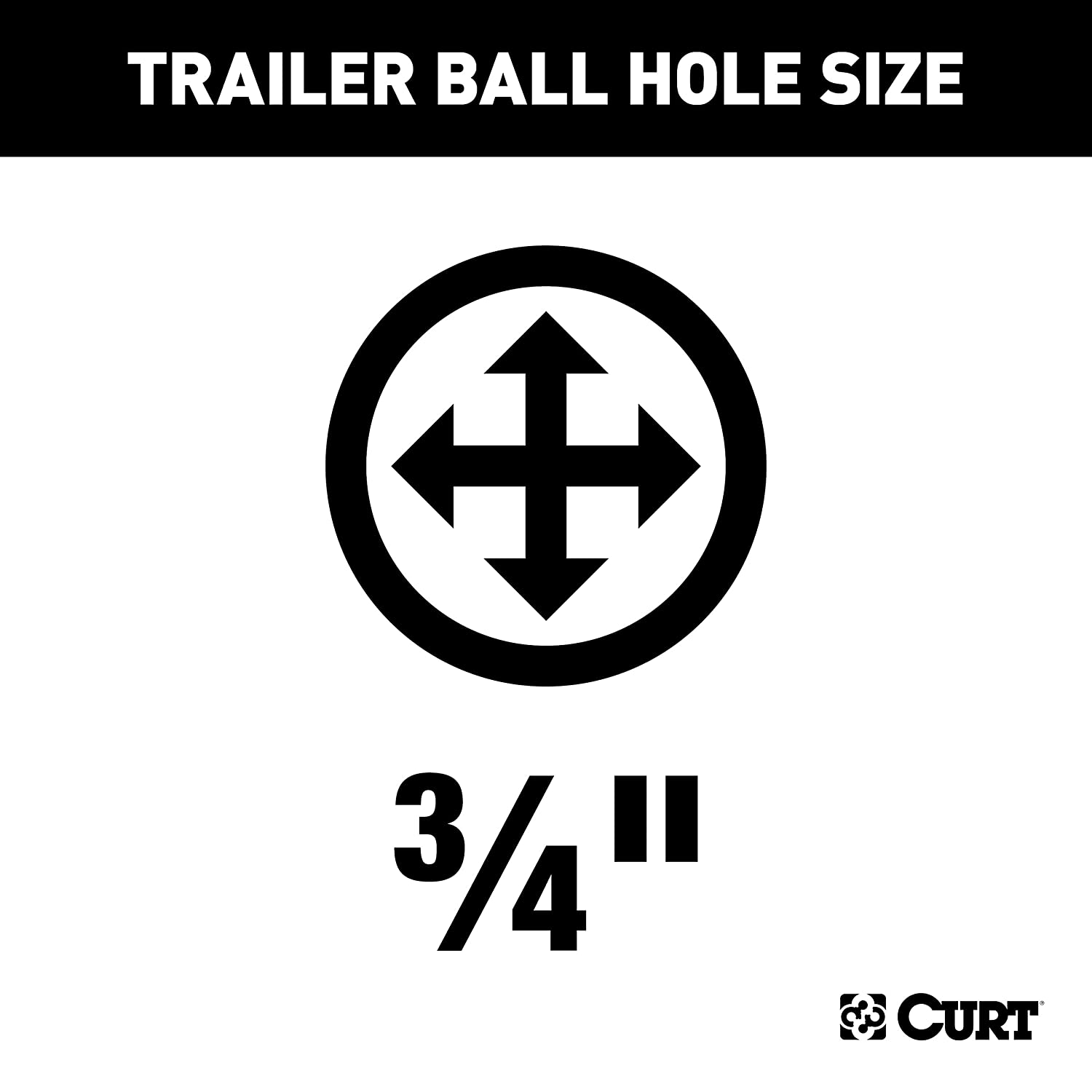 CURT 11143 Class 1 Fixed-Tongue Trailer Hitch with 3//4-Inch Trailer Ball Hole  for Select Acura Integra