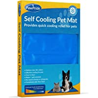 PawPride The Self-Cooling Pet Mat Pad - Pressure-Activated Cool Gel Technology - Help Your Dog Stay Cool On Summer Days and Prevent Overheating and Dehydration – Perfect for Home and Travel