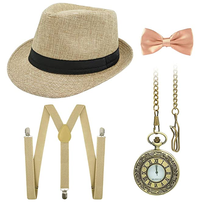 Amazon.com: Ziyoot 1920s - Disfraz de Gatsby Gangster para ...