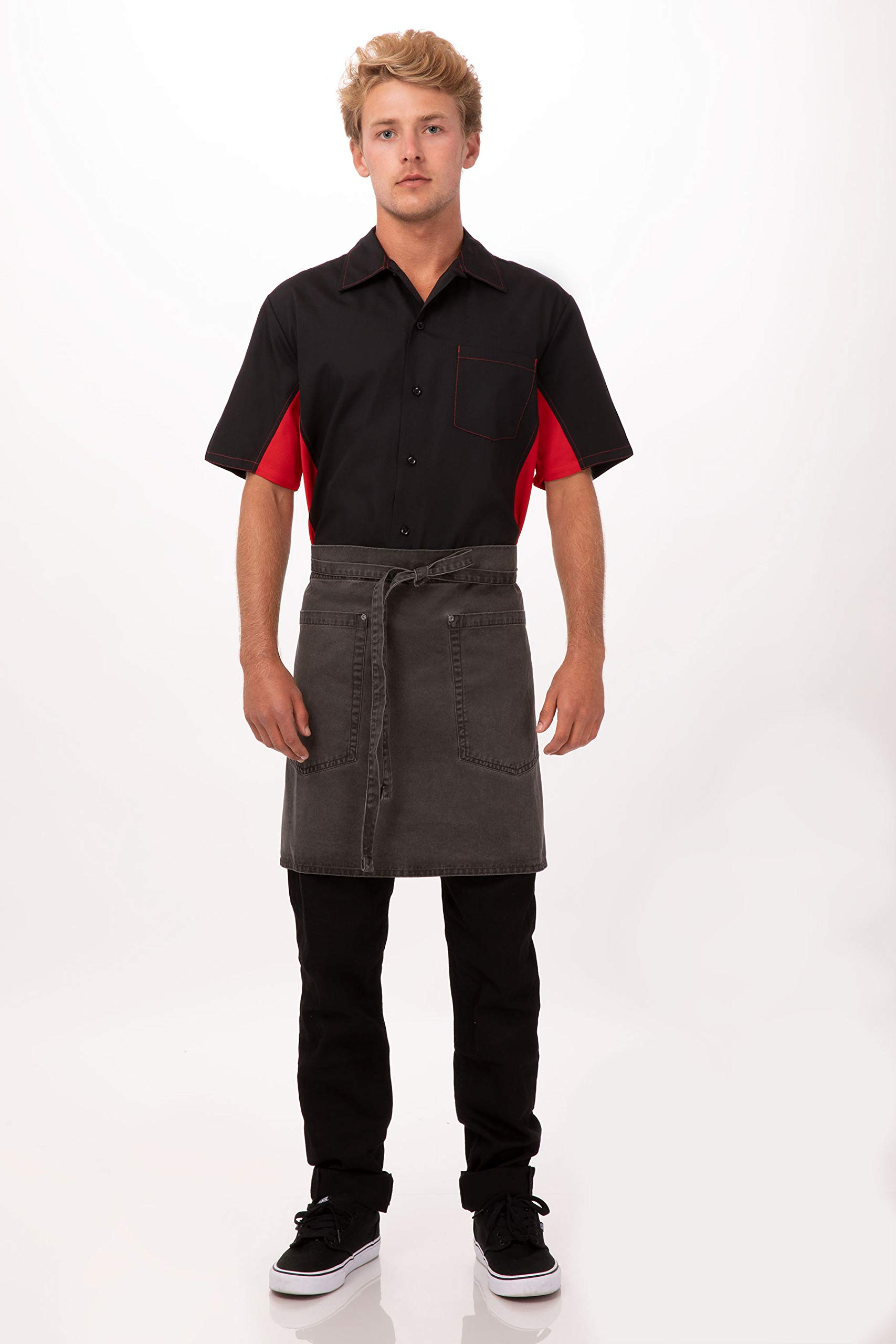 Chef Works Unisex Dorset Half Bistro Apron, Pewter, One Size by Chef Works