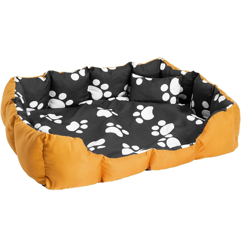 TecTake Cama Perros Mascota Gato Suave Resistente Cama CÃO Lavable Alfombra COJIN Can - Disponible en Diferentes Colores - (Marrón-Negro con Patas | no.