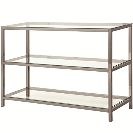 Coaster Home Furnishings 2-Shelf Sofa Table Black Nickel and Clear