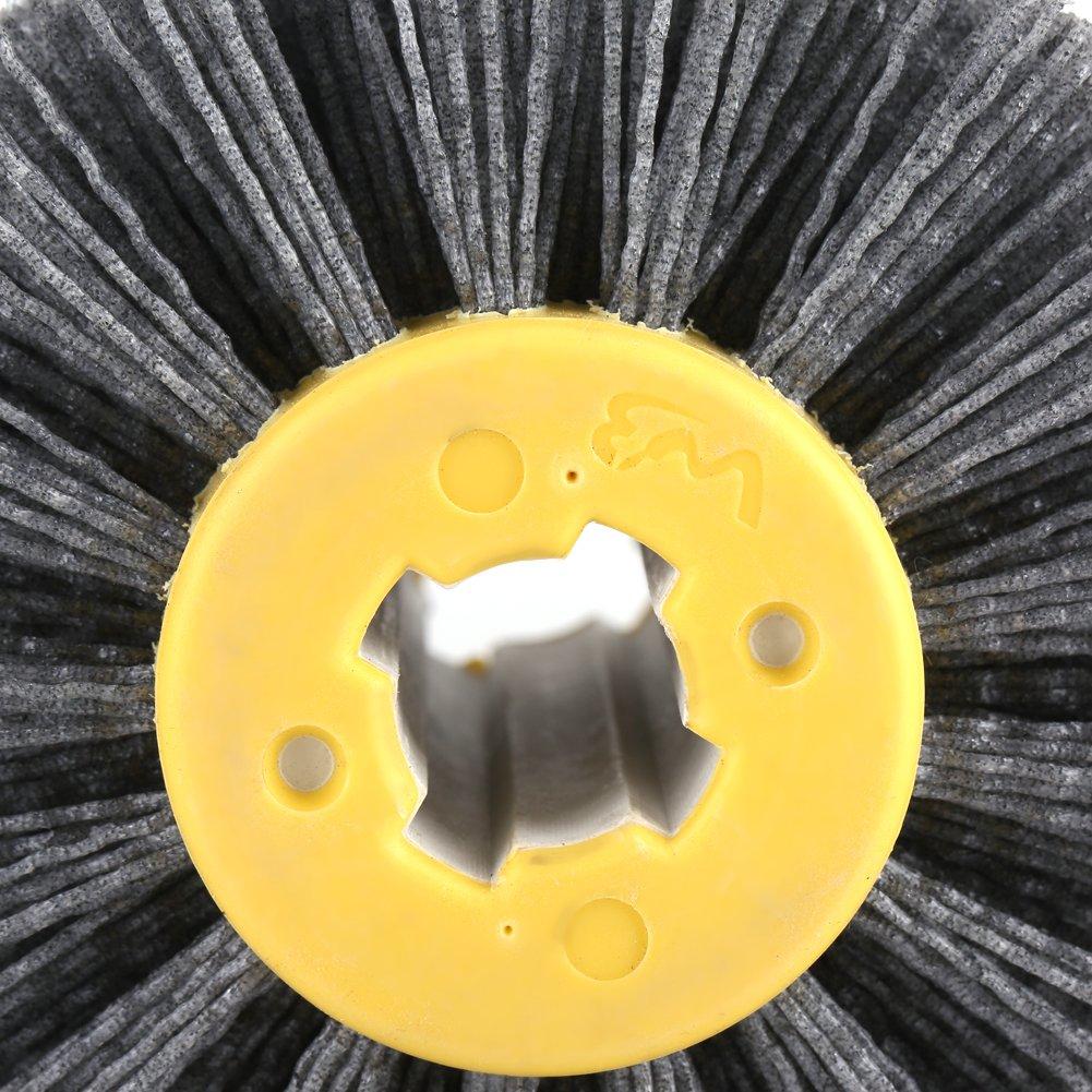 Fdit # 120 Abrasivos Rueda Cepillo Pulidora para Muebles de Madera Pulido Dibujo Cable Socialme-EU