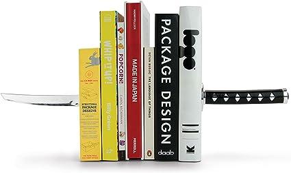 Antiscivolo Art Metal Pagina Fissa Resistente Decorative Shelf Organizzatore Conservazione dei Libri Riviste E Nastri Possono Essere Utilizzati per La Home Office Katana Bookends Magnetici
