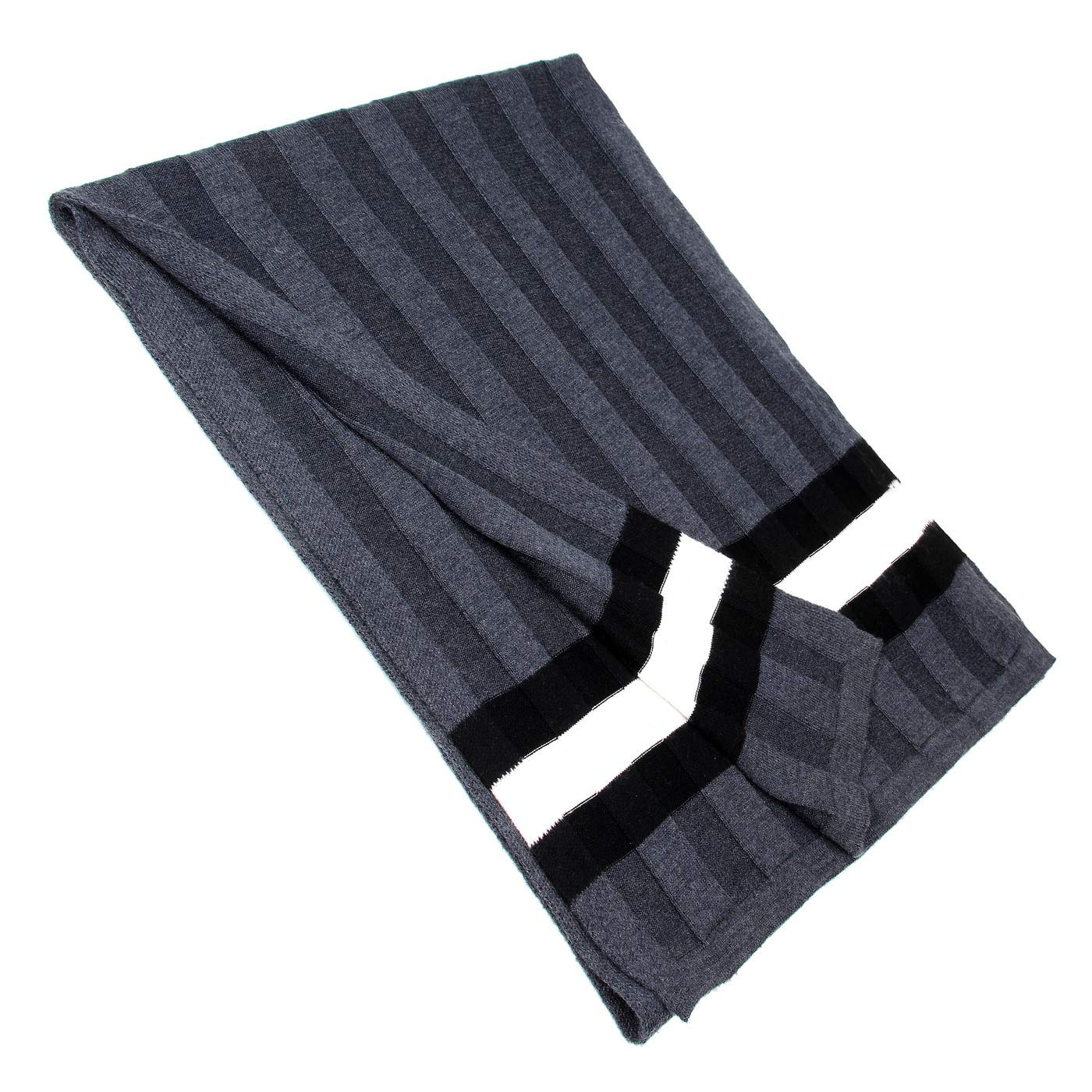 Men Plain Thermal Scarf Knitted Striped Winter Scarves One Size Leisure Business Men Warm Neckerchief Gray by Panegy (Image #7)